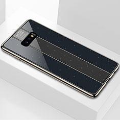 Silikon Schutzhülle Rahmen Tasche Hülle Spiegel M01 für Samsung Galaxy S10e Schwarz