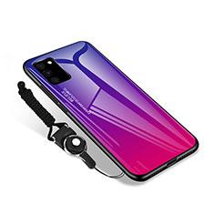 Silikon Schutzhülle Rahmen Tasche Hülle Spiegel M01 für Samsung Galaxy S20 FE 4G Pink