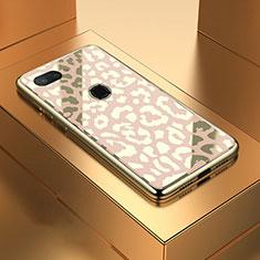 Silikon Schutzhülle Rahmen Tasche Hülle Spiegel M01 für Xiaomi Mi 8 Lite Gold