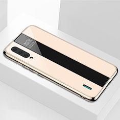 Silikon Schutzhülle Rahmen Tasche Hülle Spiegel M01 für Xiaomi Mi A3 Gold