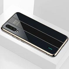 Silikon Schutzhülle Rahmen Tasche Hülle Spiegel M01 für Xiaomi Mi A3 Schwarz