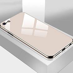 Silikon Schutzhülle Rahmen Tasche Hülle Spiegel M02 für Apple iPhone 6S Plus Gold