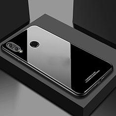 Silikon Schutzhülle Rahmen Tasche Hülle Spiegel M02 für Huawei Honor 10 Lite Schwarz