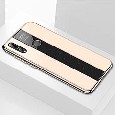 Silikon Schutzhülle Rahmen Tasche Hülle Spiegel M02 für Huawei Honor 20 Lite Gold