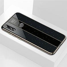 Silikon Schutzhülle Rahmen Tasche Hülle Spiegel M02 für Huawei Honor 20 Lite Schwarz