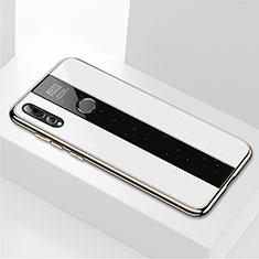 Silikon Schutzhülle Rahmen Tasche Hülle Spiegel M02 für Huawei Honor 20 Lite Weiß