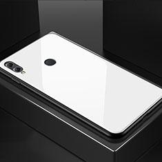 Silikon Schutzhülle Rahmen Tasche Hülle Spiegel M02 für Huawei Honor 8X Weiß