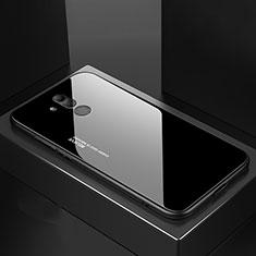 Silikon Schutzhülle Rahmen Tasche Hülle Spiegel M02 für Huawei Mate 20 Lite Schwarz
