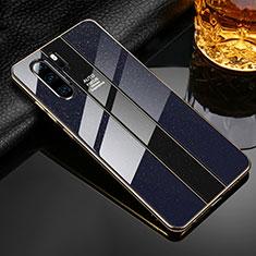 Silikon Schutzhülle Rahmen Tasche Hülle Spiegel M02 für Huawei P30 Pro Schwarz