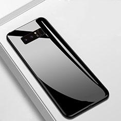 Silikon Schutzhülle Rahmen Tasche Hülle Spiegel M02 für Samsung Galaxy Note 8 Schwarz