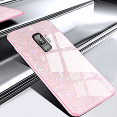 Silikon Schutzhülle Rahmen Tasche Hülle Spiegel M02 für Samsung Galaxy S9 Rosegold