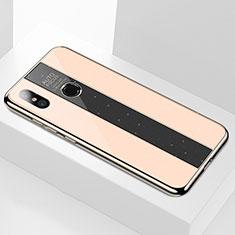 Silikon Schutzhülle Rahmen Tasche Hülle Spiegel M02 für Xiaomi Mi 6X Gold