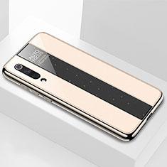 Silikon Schutzhülle Rahmen Tasche Hülle Spiegel M02 für Xiaomi Mi 9 Lite Gold