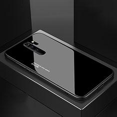 Silikon Schutzhülle Rahmen Tasche Hülle Spiegel M02 für Xiaomi Redmi Note 8 Pro Schwarz