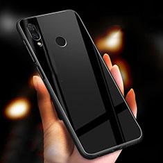 Silikon Schutzhülle Rahmen Tasche Hülle Spiegel M03 für Huawei Honor 10 Lite Schwarz