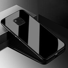 Silikon Schutzhülle Rahmen Tasche Hülle Spiegel M03 für Huawei Mate 20 Pro Schwarz