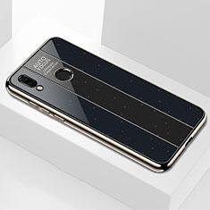 Silikon Schutzhülle Rahmen Tasche Hülle Spiegel M03 für Huawei P20 Lite Schwarz