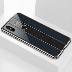 Silikon Schutzhülle Rahmen Tasche Hülle Spiegel M03 für Xiaomi Mi Mix 3 Schwarz