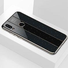 Silikon Schutzhülle Rahmen Tasche Hülle Spiegel M03 für Xiaomi Redmi Note 7 Schwarz