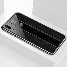 Silikon Schutzhülle Rahmen Tasche Hülle Spiegel M04 für Huawei Enjoy 9 Plus Schwarz