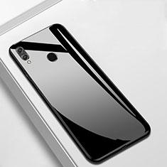 Silikon Schutzhülle Rahmen Tasche Hülle Spiegel M05 für Huawei Enjoy 9 Plus Schwarz