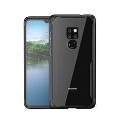 Silikon Schutzhülle Rahmen Tasche Hülle Spiegel M05 für Huawei Mate 20 Schwarz