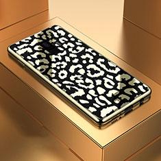 Silikon Schutzhülle Rahmen Tasche Hülle Spiegel M05 für Samsung Galaxy S9 Schwarz