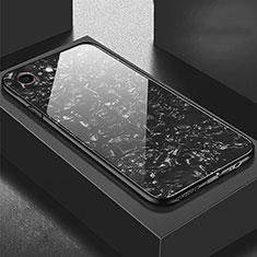 Silikon Schutzhülle Rahmen Tasche Hülle Spiegel P01 für Apple iPhone 6S Plus Schwarz