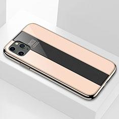 Silikon Schutzhülle Rahmen Tasche Hülle Spiegel T01 für Apple iPhone 11 Pro Max Gold