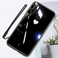 Silikon Schutzhülle Rahmen Tasche Hülle Spiegel T01 für Huawei Honor 20 Lite Schwarz