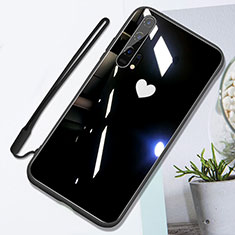 Silikon Schutzhülle Rahmen Tasche Hülle Spiegel T01 für Huawei Honor 20 Pro Schwarz