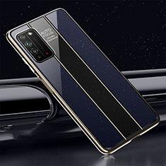 Silikon Schutzhülle Rahmen Tasche Hülle Spiegel T01 für Huawei Honor X10 5G Blau