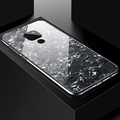 Silikon Schutzhülle Rahmen Tasche Hülle Spiegel T01 für Huawei Mate 20 Schwarz