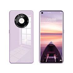 Silikon Schutzhülle Rahmen Tasche Hülle Spiegel T01 für Huawei Mate 40 Helles Lila