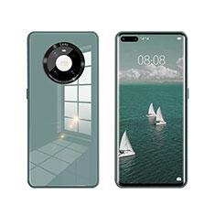 Silikon Schutzhülle Rahmen Tasche Hülle Spiegel T01 für Huawei Mate 40 Pro Grün