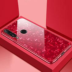 Silikon Schutzhülle Rahmen Tasche Hülle Spiegel T01 für Huawei Nova 4e Rot