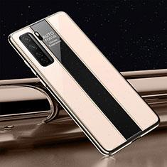 Silikon Schutzhülle Rahmen Tasche Hülle Spiegel T01 für Huawei Nova 7 SE 5G Gold