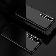 Silikon Schutzhülle Rahmen Tasche Hülle Spiegel T01 für Huawei P30 Schwarz
