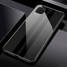 Silikon Schutzhülle Rahmen Tasche Hülle Spiegel T01 für Huawei P40 Lite Schwarz