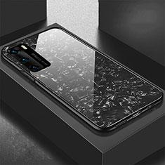 Silikon Schutzhülle Rahmen Tasche Hülle Spiegel T01 für Huawei P40 Schwarz