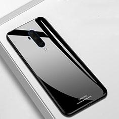 Silikon Schutzhülle Rahmen Tasche Hülle Spiegel T01 für OnePlus 7T Pro Schwarz