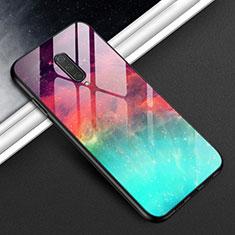 Silikon Schutzhülle Rahmen Tasche Hülle Spiegel T01 für OnePlus 8 Cyan