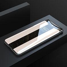 Silikon Schutzhülle Rahmen Tasche Hülle Spiegel T01 für Oppo Find X Gold