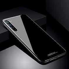 Silikon Schutzhülle Rahmen Tasche Hülle Spiegel T01 für Oppo Find X2 Lite Schwarz