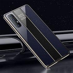 Silikon Schutzhülle Rahmen Tasche Hülle Spiegel T01 für Oppo Find X2 Neo Blau