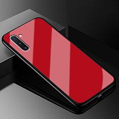 Silikon Schutzhülle Rahmen Tasche Hülle Spiegel T01 für Samsung Galaxy Note 10 5G Rot