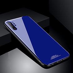 Silikon Schutzhülle Rahmen Tasche Hülle Spiegel T01 für Samsung Galaxy Note 10 Plus 5G Blau