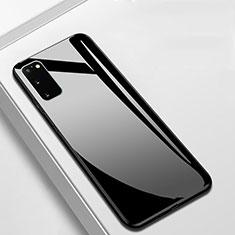 Silikon Schutzhülle Rahmen Tasche Hülle Spiegel T01 für Samsung Galaxy S20 5G Schwarz