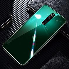 Silikon Schutzhülle Rahmen Tasche Hülle Spiegel T01 für Xiaomi Mi 9T Pro Grün