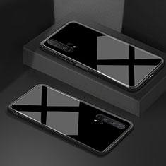 Silikon Schutzhülle Rahmen Tasche Hülle Spiegel T02 für Huawei Honor 20 Pro Schwarz